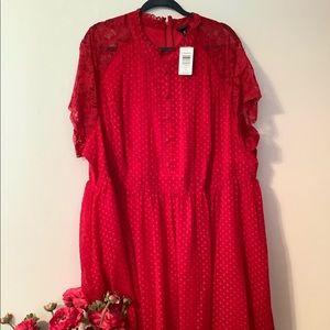 Torrid Plus Size Red Dress Size 30